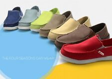 a9dc1360fb6 Hot Mens Loafers Comfort Casual Canvas 1FZ Breathable Slip On Leisure Flat  Shoes