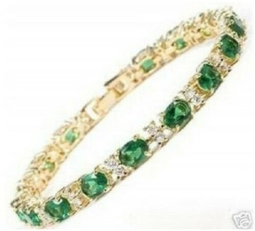 "Stunning Green crystal Women Bangle Bracelet Bijoux 7.5"""