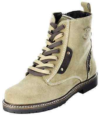 Bergheimer Trachtenschuhe Stiefeletten Trachten Stiefel beige Damen Schuhe Gossl