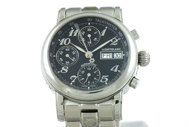 8f19857c0f4 Montblanc Men's Star XL 18966 7016 Automatic Chronograph Swiss Luxury Watch  !