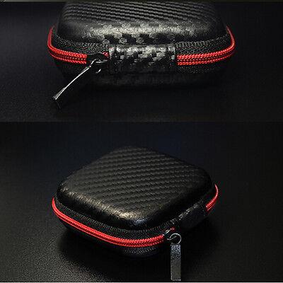 Pocket Hard Case Storage Bag For Headphone Earphone Earbuds TF SD Card Black CJ