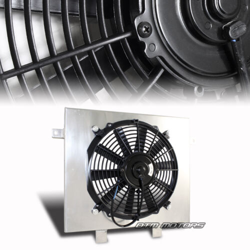 Aluminum Cooling Radiator Shroud Black Fan For 88-91 BMW M3 Manual Transmission