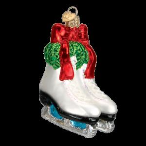 Old-World-Christmas-Holiday-Skates-44052-N-Glass-Ornament-w-OWC-Box