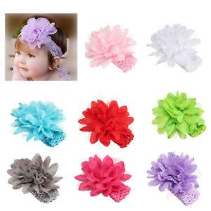 Kids Baby Toddler Girl Cute Lace Flower Hair Band Headwear Headband Accessories