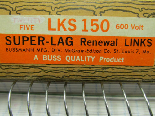 5 NEW BUSSMANN RENEWAL LINKS LKS 150 60V. . WL168