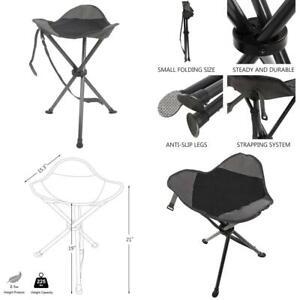 Portal Tall Slacker Chair Folding Tripod Stool For Outdoor