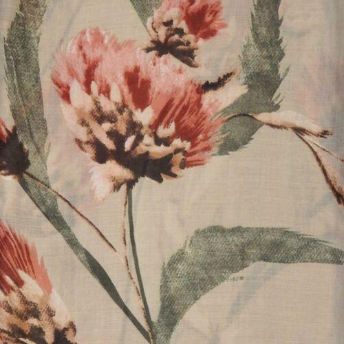LONDON SCARVES DHALIA Vintage Schal Tuch Blumen Blüten beige NEU