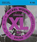 6 X D'Addario EXL120 Nickel Wound Super Light Electric Guitar Strings 9 - 42