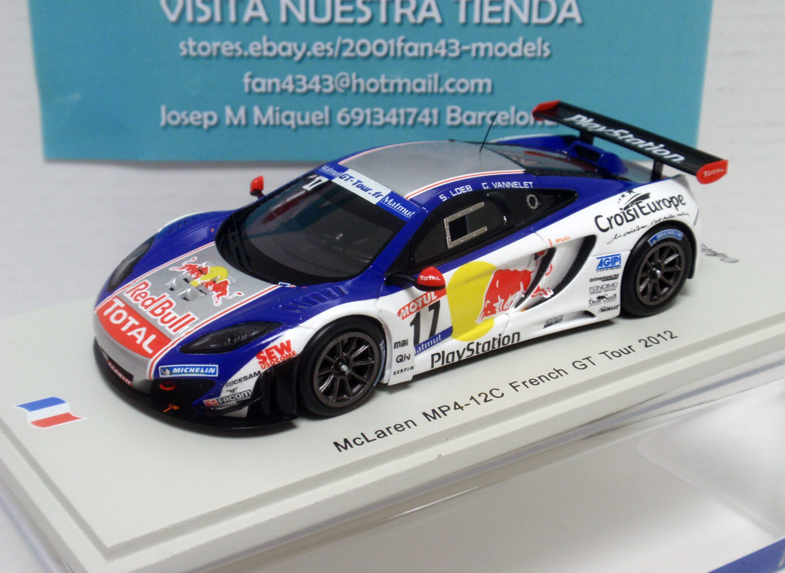 McLAREN MP4 12C FRENCH GT 2012 LOEB RED BULL 1 43 SPARK