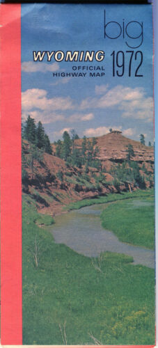 1972 Wyoming Stateissued Vintage Highway Map
