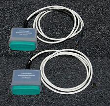 Pair 2 Fluke Microtest Omniscanner Cat 6 Shielded Link Adapter