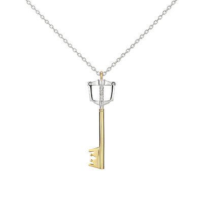 NEW SquareEnix KINGDOM HEARTS Silver 925 Charm Necklace KEY BLADE,From Japan,F//S