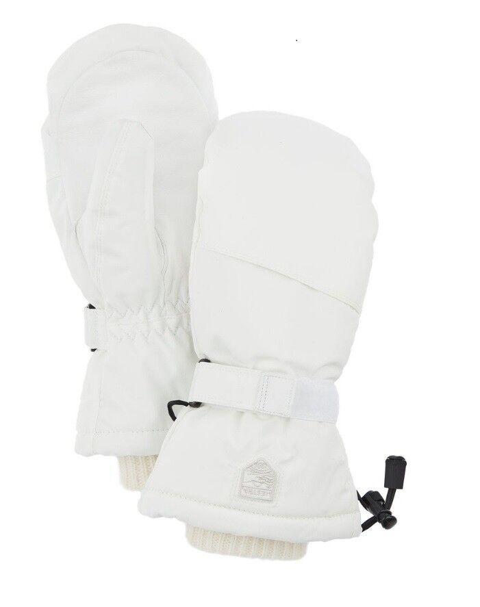 Hestra Cosy Senior Ski Mittens, Ivory