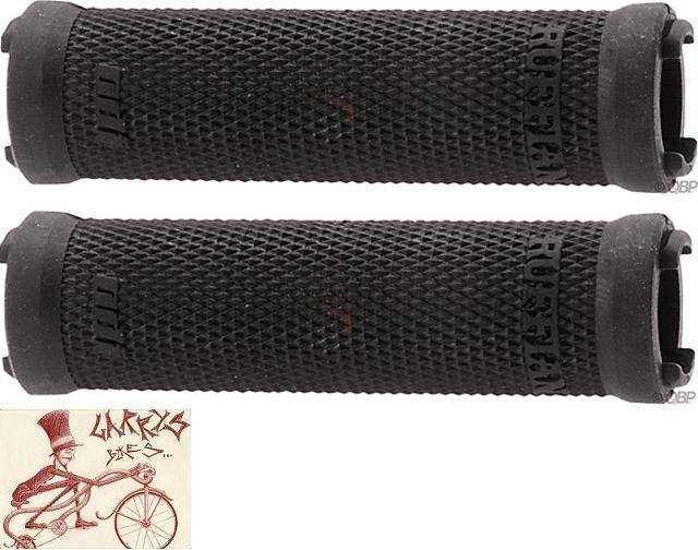ODI RUFFIAN LOCK-ON BLACK BMX-MTB BICYCLE GRIPS--LOCK JAWS NOT INCLUDED