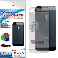 2 Pellicole Retro Opaca Per Apple iPhone 5 5G Antiriflesso Antimpronta Pellicola