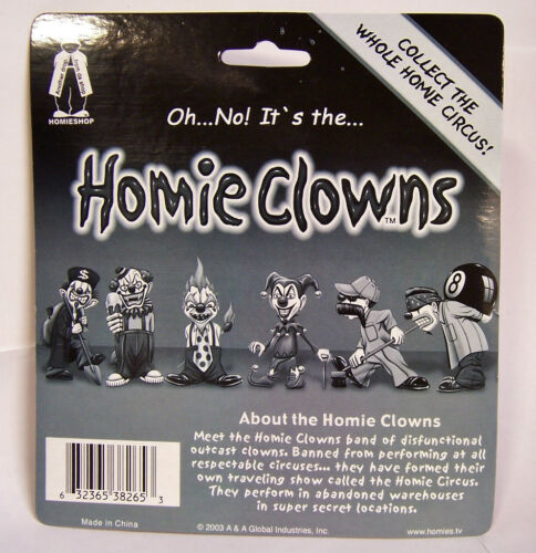 "RARE Homies CLOWNS Series 2 Blister Package Card Figure Figurine 2/"" Homie Clown"