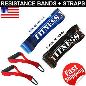 Resistance-Band-Loop-150-170-lb-Fitness-Strap-D-Handle-Cable-Attachment-Set