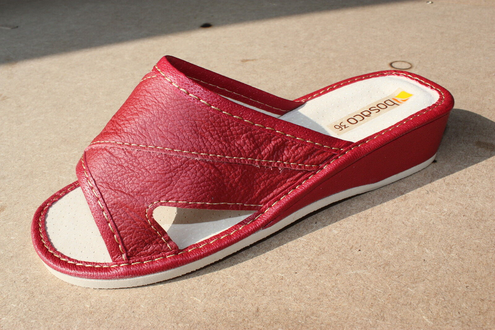Comfort Genuine Leather Leather Genuine Slip on Slippers Shoes for Women UK Size 3 4 5 6 7 8 8631b6