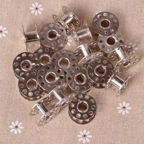 20pcs Sewing Machine Bobbins Stainless Metal For Kenmore Viking Singer/_sh