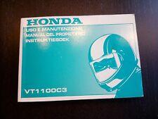 Honda VT 1100 C3 VT1100C3 1998 Uso e manutenzione Manual Del Propietario