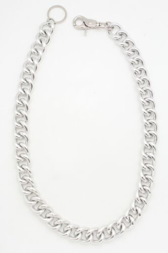Men Silver Metal Wallet Chain Jean Key Chunky Chain Thick Links Extra Long Biker