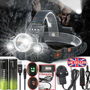 100000LM Flashlight 18650 CREE T6 LED Tactical Military Torch Headlamp NEW VHSE