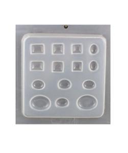 Resin Jewelry Mold DEEP FLEX Reusable ASST JEWEL SHAPES 14 Cavity Made in USA