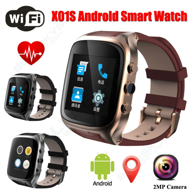 X01S Smart Wrist Watch Android 5.1 3G Heart Rate Monitor GPS Waterproof IP67 NEW