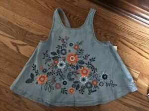 NWT-Guess-Girls-Sleeveless-Chambray-Swing-Top-Size-L-14