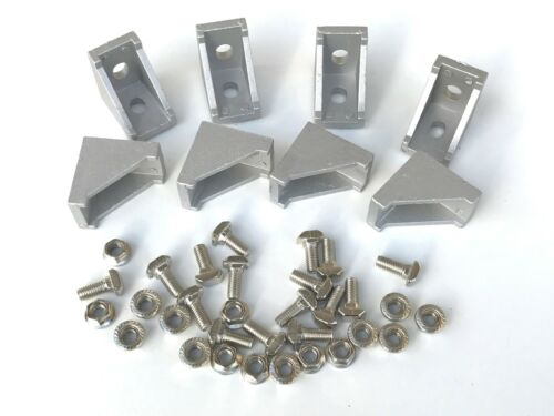 8 Set of Corner Fittings 2020 Aluminium Extrusion TSlot Profile
