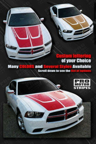 Dodge Charger 2011-2014 Hood Accent Crown Stripes Decals Choose Color