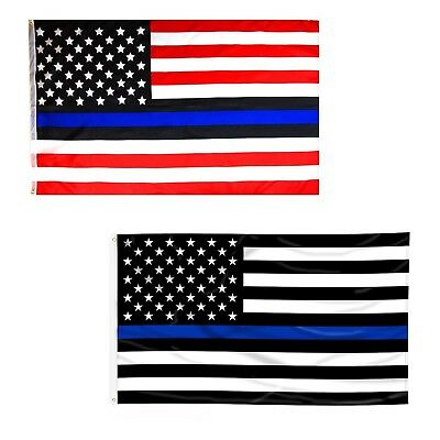 3x5 3/'x5/' Wholesale State of Texas Police Blue Line Back Blue 2 Flags Combo
