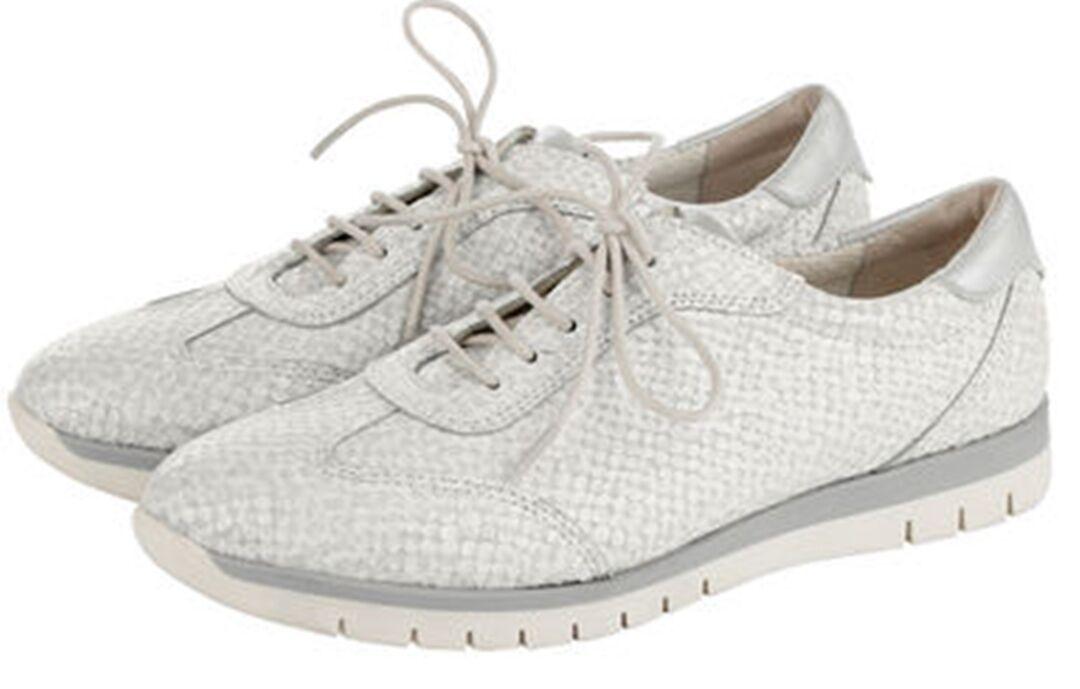 Damen Schnürschuhe Sneaker offwhite weite K 38 39 40 Neu 437 3   eBay d405feb335