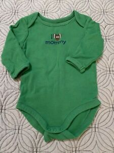 GYMBOREE BRAND NEW BABY GREEN FOOTBALL I Love Mommy BODYSUIT Preemies 0 3 6 NWT