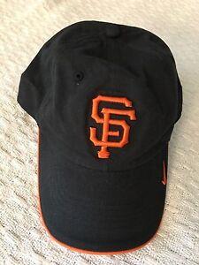 SAN FRANCISCO GIANTS NIKE MLB BLACK CAP WITH ORANGE TRIM ONE SIZE ... a1c9d1c06bf0