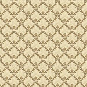 Image Is Loading Dolls House Miniature Gold Classic Wallpaper Design