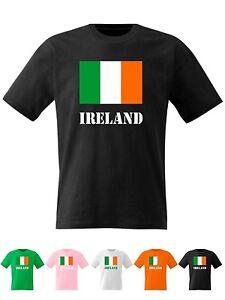 Kids Ireland T Shirt Irish Flag St Patricks Day Boys Girls Top