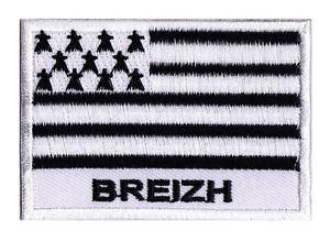 Écusson patche drapeau Breton BRETAGNE Breizh coudre patch transfert 70 x 45 mm