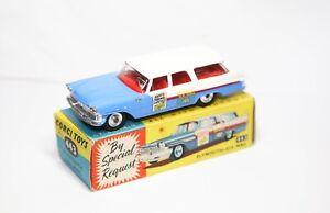 Corgi-443-Plymouth-correo-de-Estados-Unidos-en-su-Caja-Original-Excelente-Modelo-Vintage