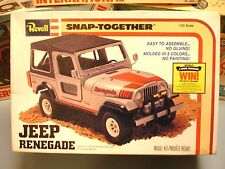 "REVELL 1980 JEEP ""RENEGADE"" SNAP-TOHETHER #6209 1/25 AMT 80 UNBUILT OB MODEL KIT"