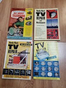 4 Vintage 1950's TV Repair Manuals Books Magazine fawcett ...