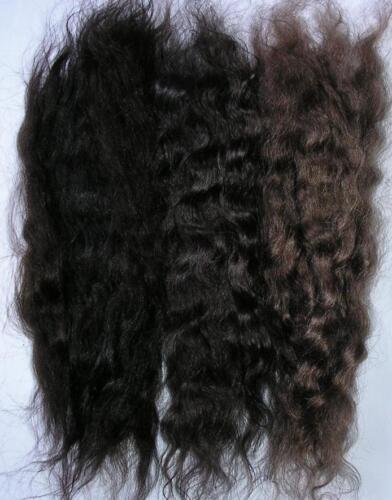WIG WEFT/REBORN MOHAIR DOLL/TROLL/PUPPET/THEATRE HAIR WAVY - BROWN TRIO  15GRAMS
