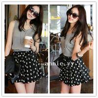 Fashion Women Korean Sweet Summer Sleeveless Chiffon Casual Waist Dress S M L
