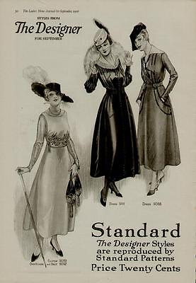 1917 The Designer Fashion Page Ad Sophisticated Styles Ebay
