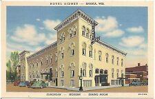 Hotel Sidney in Sparta WI Postcard