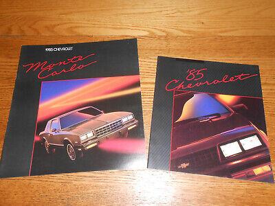 Original 1985 Chevrolet Monte Carlo Sales Brochure 85 Chevy NEW