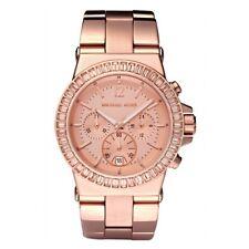 ** nuevo ** Damas KORS DYLAN Rosa Dorado Cristal MICHAEL Reloj-MK5412-RRP £ 235
