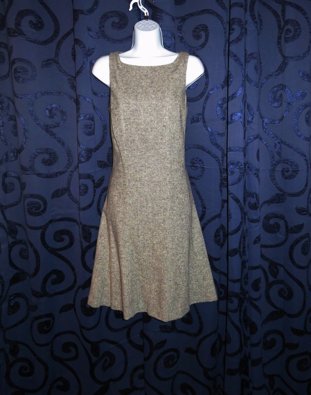 LAUREN RALPH LAUREN Dress Sleeveless Wool Blend Career Work Office Sz 6   (R508)