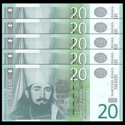 SERBIA 20 DINARA 2011 P 55 UNC
