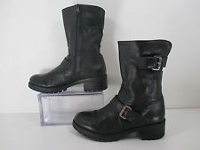 Bronx Fall Free Motorcycle Boots Zip Up Combat Women's Black Size 9 US 41 EU